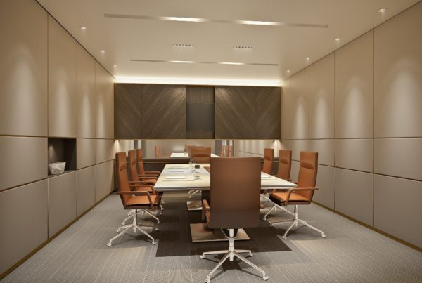 Lighting scheme for meeting room