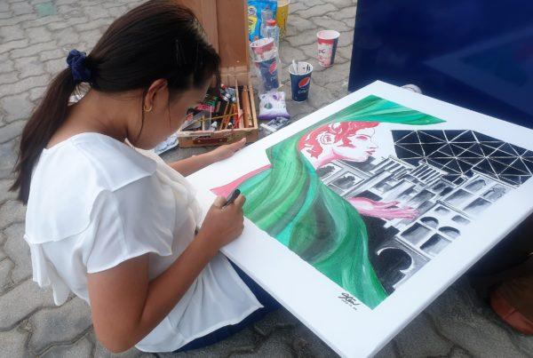 Christine Espinosa live art